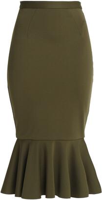 Rachel Gilbert Fluted Stretch-knit Midi Skirt