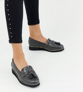 Simply Be Extra Wide Fit Simply Be extra wide fit loafer in gray croc