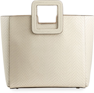 STAUD Shirley Snake-Embossed Tote Bag