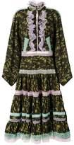Natasha Zinko lace trim camouflage dress