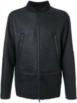 Isabel Benenato leather bomber jacket - men - Leather/Polyamide/Spandex/Elastane/Yak - 48