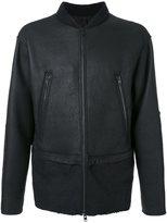 Isabel Benenato leather bomber jacket - men - Leather/Wool/Yak/Spandex/Elastane - 48