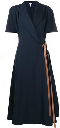 Loewe Wrap-Front Midi Dress