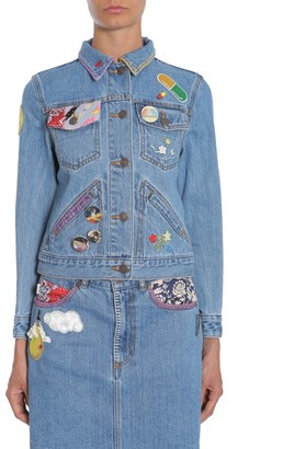 Marc Jacobs Patch Pin Fitted Denim Jacket