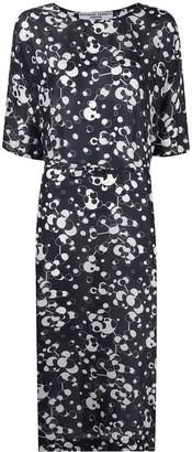 Katharine Hamnett Belted Silk Shift Dress