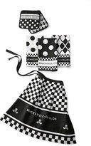 Mackenzie Childs MacKenzie-Childs Black & White Kitchen Linens Set