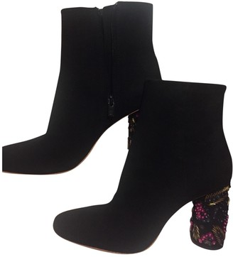 Loeffler Randall Black Suede Ankle boots