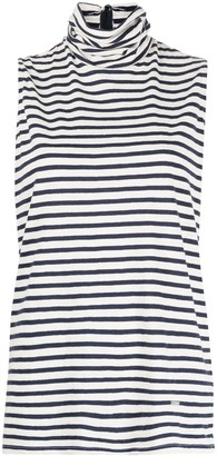DSQUARED2 striped sleeveless T-shirt