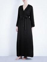 Nk Imode Long silk-satin robe