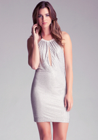 Bebe Chain Halter Studded Dress