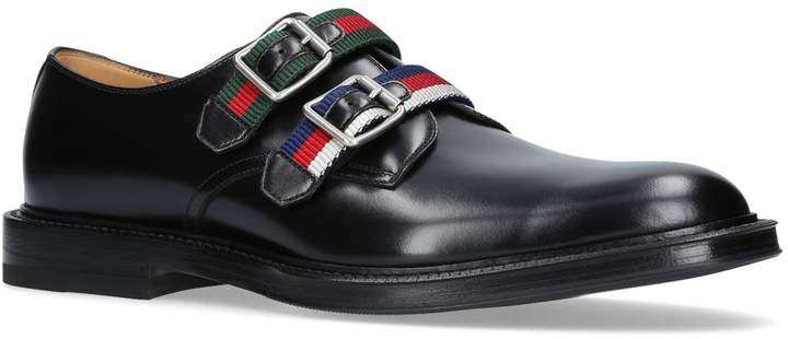 Gucci Web Strap Double Monk Shoes