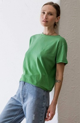 Ragdoll LA CROPPED TEE Green Faded