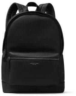 Michael Kors Men's Bryant Pebble-Textured Leather Backpack - Black