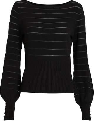 Intermix Freya Semi-Sheer Striped Sweater