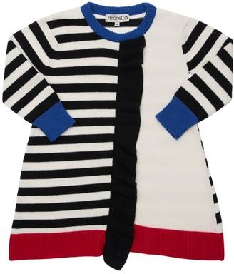 Simonetta Striped Wool Blend Knit Dress