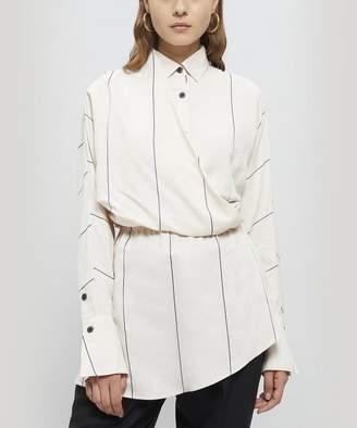 Palmer Harding palmer/harding Mirror Thin Stripe Elasticated Waist Shirt