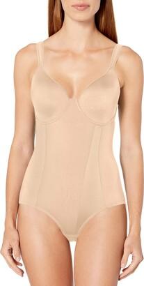 Joan Vass Women's Molded Cup Printed Bodysuit