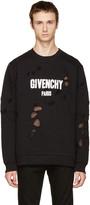 Givenchy Black Distressed Logo Sweatshirt