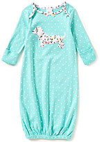 Starting Out Baby Girls Newborn-6 Months Polka Dotted Dachshund Gown