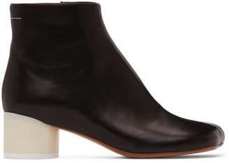 MM6 MAISON MARGIELA Black Low Heel Ankle Boots