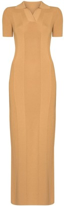 Jacquemus Cut-Out Polo-Neck Maxi Dress