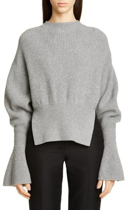 Alexander Wang Split Hem Wool & Cashmere Blend Sweater
