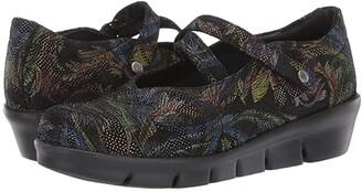 Wolky Sabik (Black Multi Palm Suede) Women's Shoes