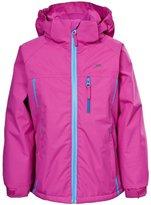 Trespass Childrens Girls Tomboy Zip Up Contrast Waterproof Jacket
