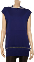 Alexander Wang Hooded fine-knit stretch-wool tunic