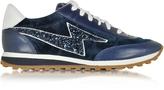 Marc Jacobs Astor Navy Blue Sneaker w/Lightning Bolt Logo