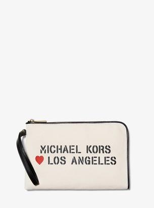 MICHAEL Michael Kors The Michael Medium Canvas Los Angeles Pouch