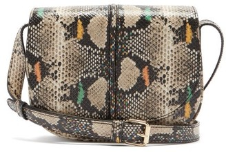A.P.C. Betty Snake-effect Leather Cross-body Bag - Python