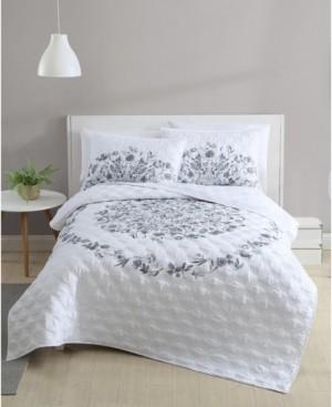Vcny Home Lauren Floral 2-Piece Twin Xl Quilt Set