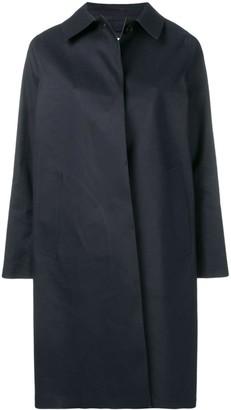 MACKINTOSH Navy Bonded Cotton Coat LR-020