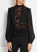 Self-Portrait Self Portrait Lace Detail Top Black
