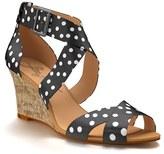Women's Shoes Of Prey Crisscross Strap Wedge Sandal