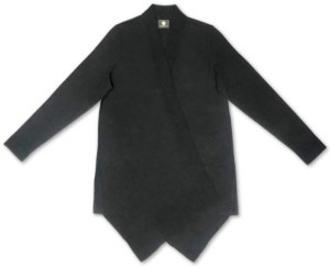 JM Collection Textured Hem Cascade-Front Cardigan, Created for Macy's