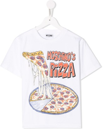 MOSCHINO BAMBINO Pizza T-shirt