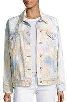 Free People Tie Dye Denim Trucker Jacket