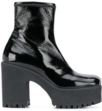 Miu Miu Side-Zip 80mm Ankle Boots