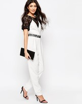 Paper Dolls Jumpsuit With Lace Sleeves