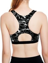icyzone Women's Workout Yoga Clothes Activewear Racerback Printed Sports Bras (S, )