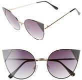 BP Women's Super Metal Tip 60Mm Cat Eye Sunglasses - Gold/ Black