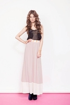 Finders Keepers Hard To Thrill Maxi Skirt in Champagne