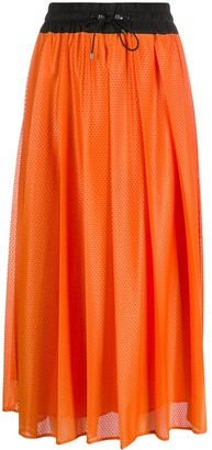 Moncler Perforated Mid-Length Skirt