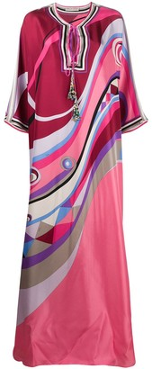Emilio Pucci Occhi-print silk dress