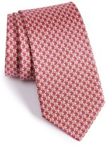 Salvatore Ferragamo Men's Fish Print Silk Tie