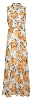 Dorothy Perkins Womens Dp Petite Multi Colour Tropical And Floral Print Sleeveless Maxi Dress
