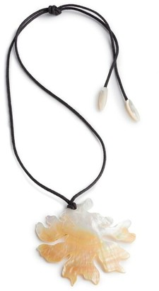 Natori Mother Of Pearl Coral Necklace