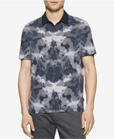 Calvin Klein Reverse Print Striped Polo